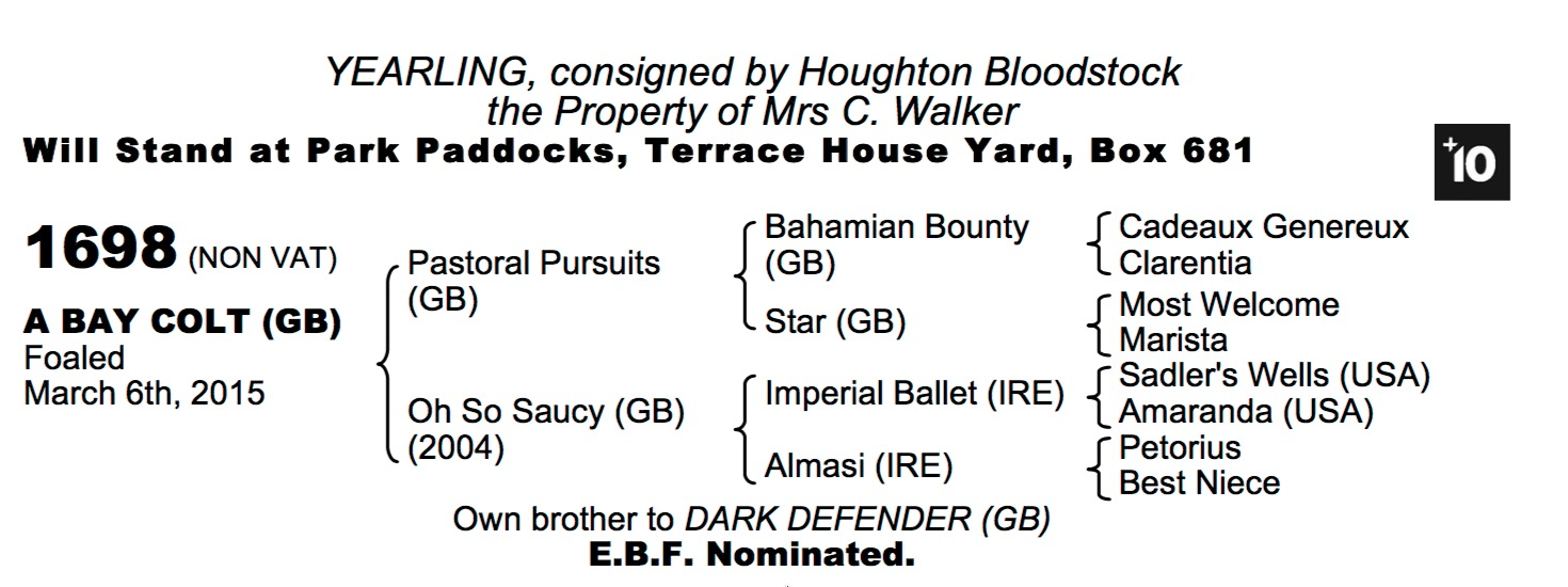 LOT 1698 - Pastoral Pursuits (GB) / Oh So Saucy (GB) B.C.